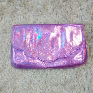 Asos Purple Iridescent Foldable Clutch